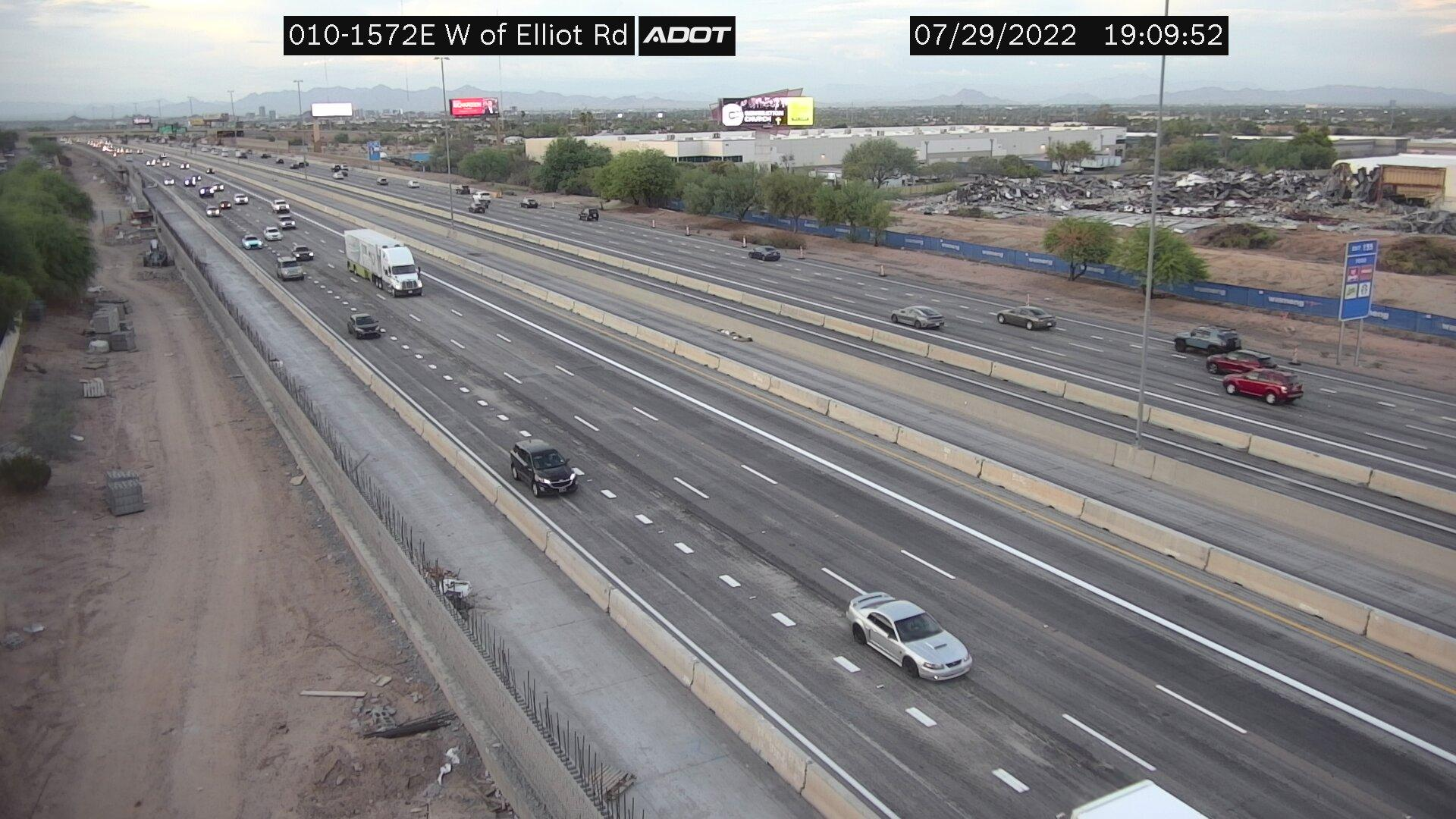 Webcam Desert Villas: Interstate 10 west of Elliot Rd