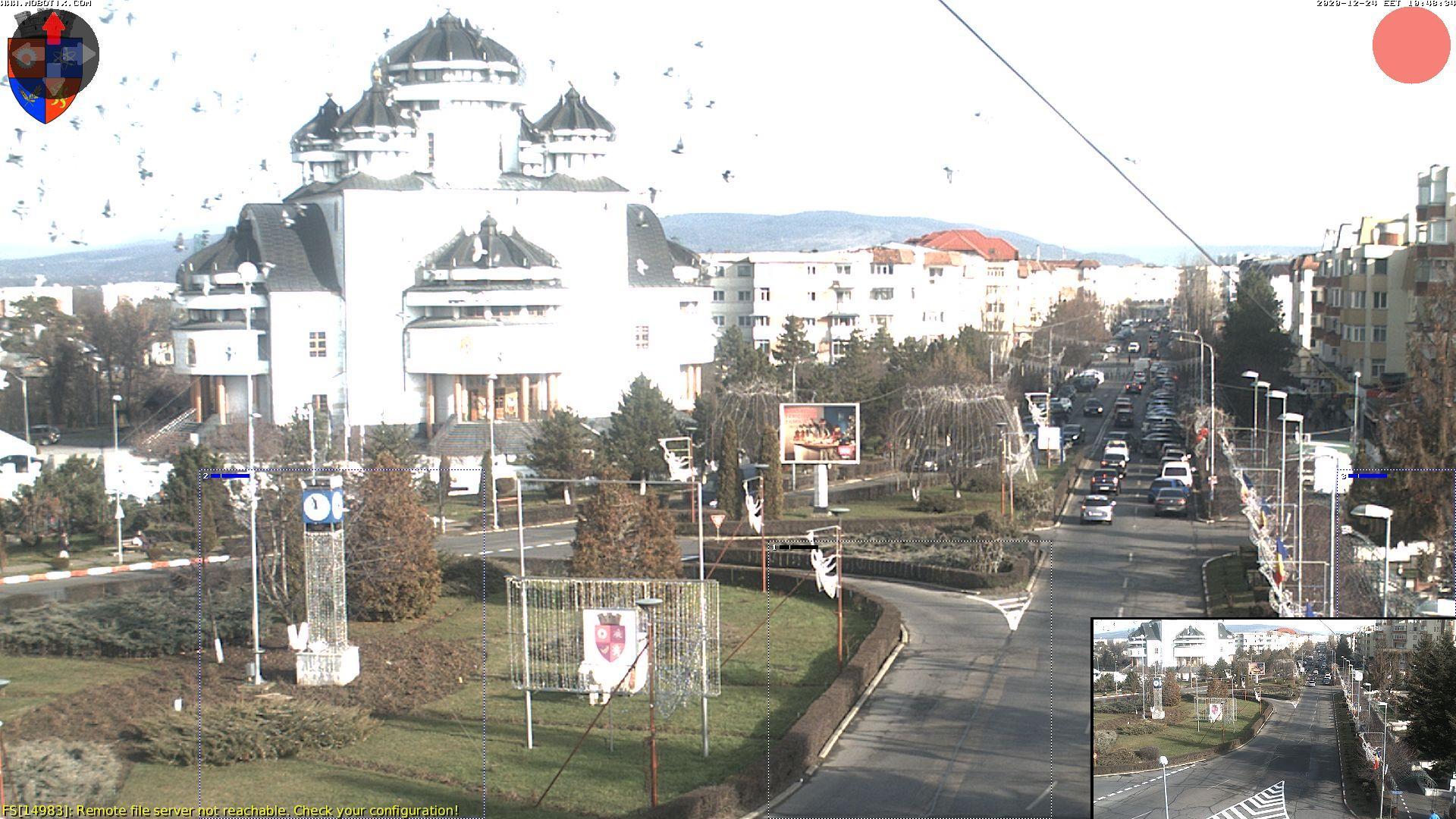 Webcam Mioveni › North-East: 2: Catedrala şi Bulevardul D
