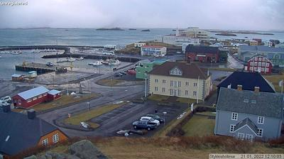 Daylight webcam view from Stykkishólmur: Stykkisholmur harbor