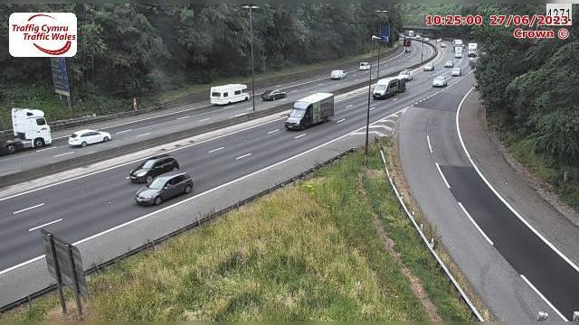 Webkamera Newport: M4 eastbound between junctions 27 and 26