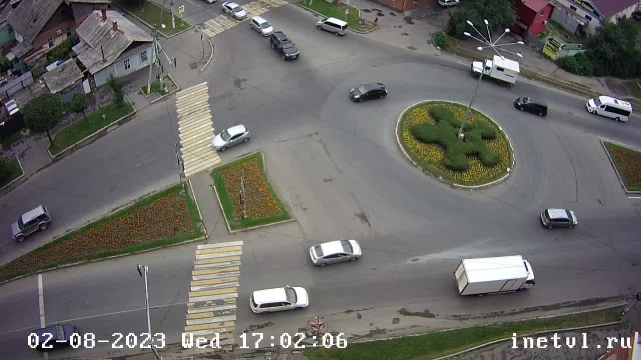 Webkamera Ussuriysk: Агеева 52 Вид на кольцо Агеева − Красно