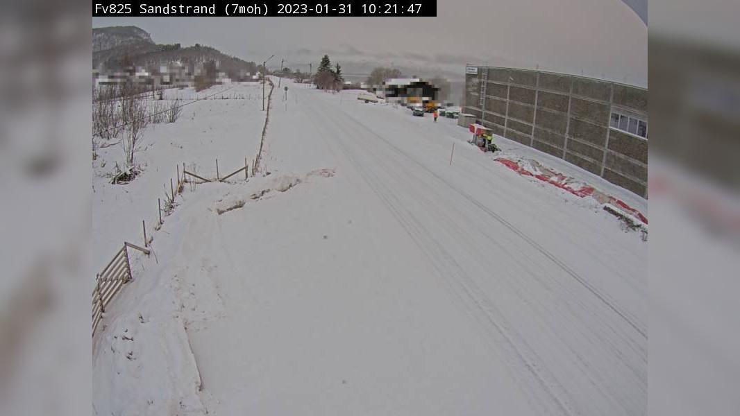 Webcam Sandstrand: F825 − Retning mot Harstad
