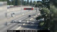 Surrey > South: , Hwy  at Port Mann Bridge, looking eastbound - Actuales