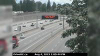 Surrey > South: , Hwy  at Port Mann Bridge, looking eastbound - Day time