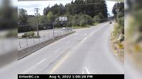 Mill Bay > West: , Hwy  at Shawnigan - Rd, looking west - Jour