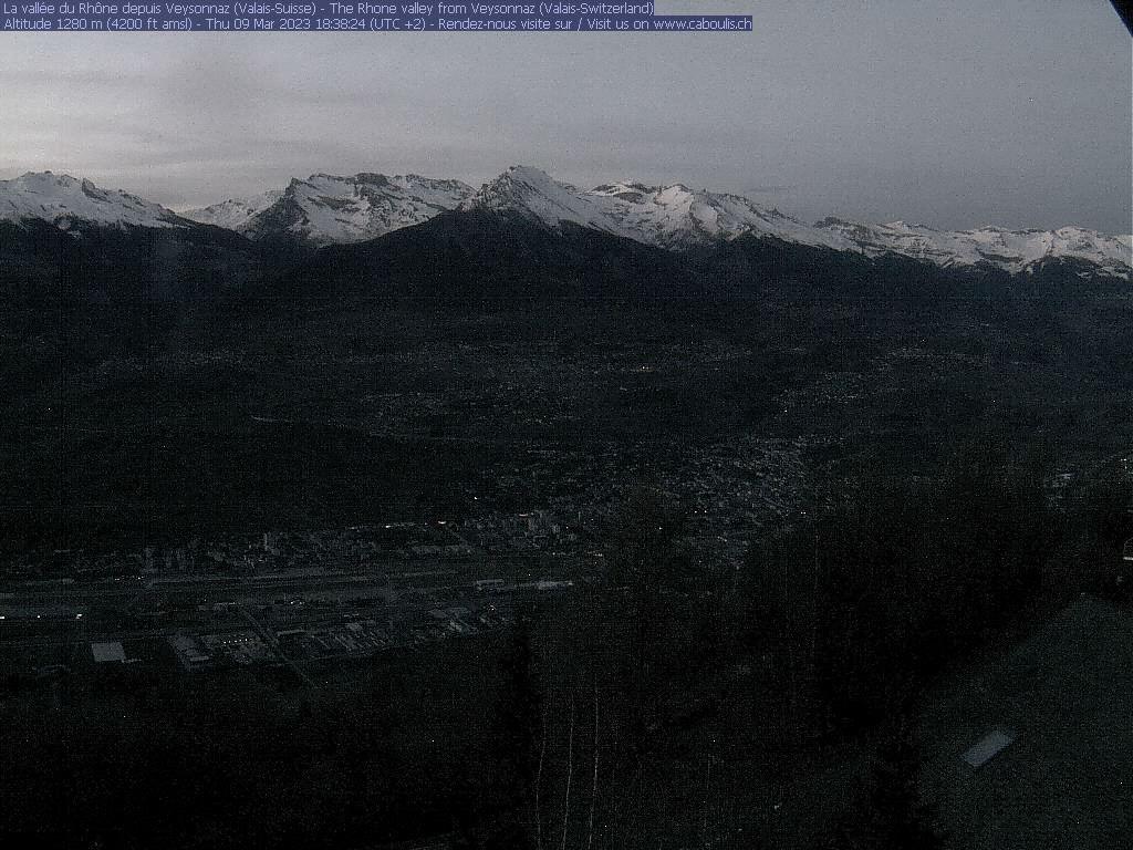 Veysonnaz: Caboulis, vue sur la Vallée du Rhône