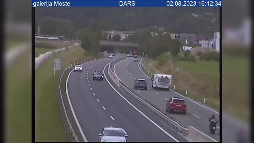 Webcam Breg: A2/E61, Karavanke − Ljubljana, galerija Most
