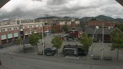 Daylight webcam view from Stjørdalshalsen: Stjørdal torg