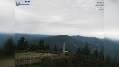Vista de cámara web de luz diurna desde Lysá hora: JZ směr (HD)