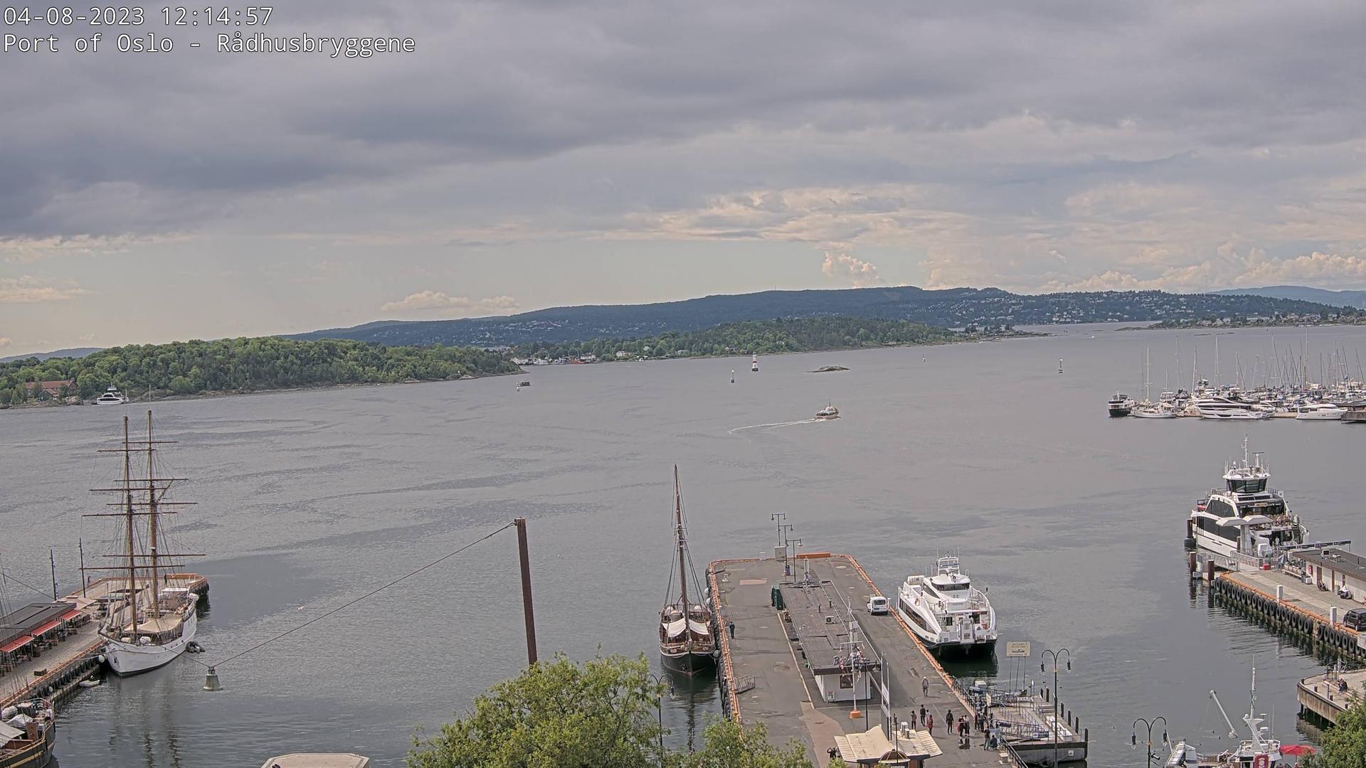 Webcam Oslo: Havn − Raadhuskaia