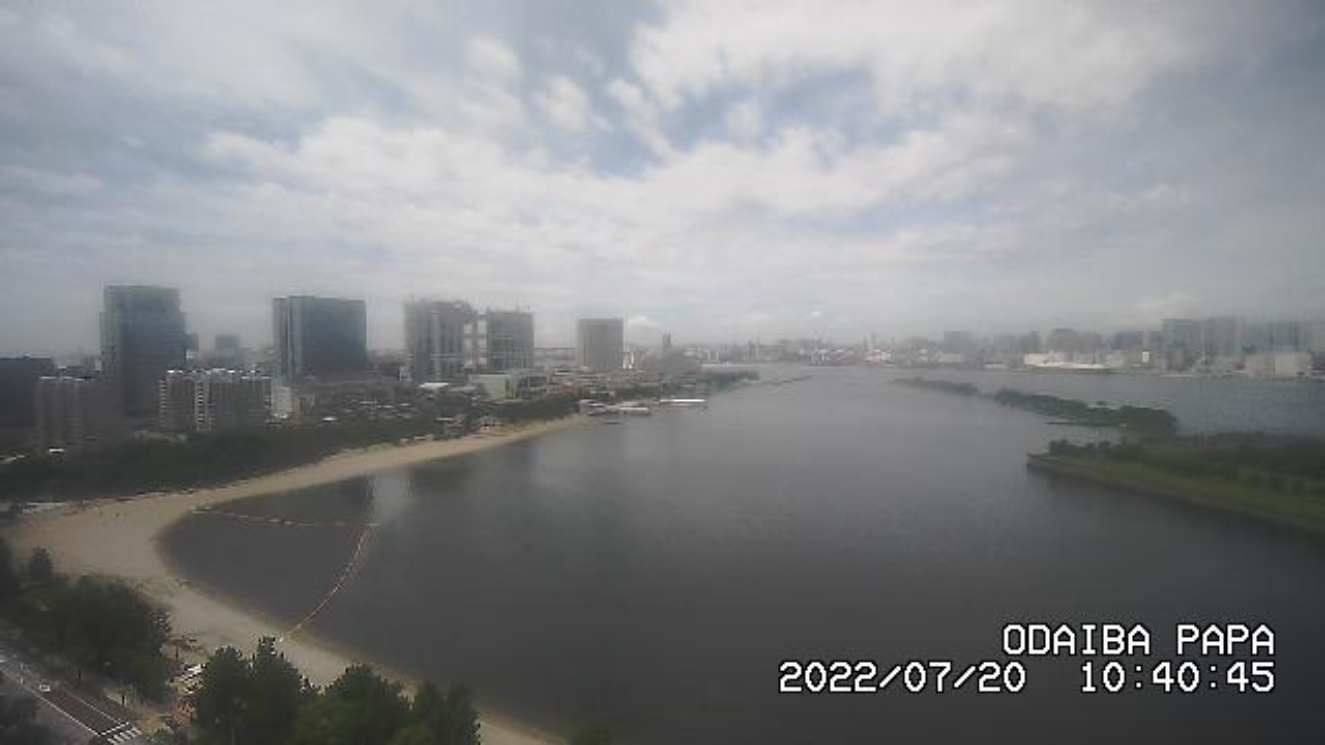 Webcam おだいばかいひんこうえんえき: City − Odaiba − Sky View