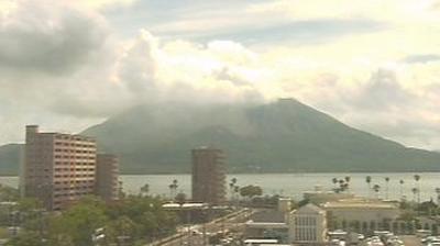 Webkamera Kagoshima: City − KKB − Sakura Island View
