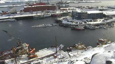 Vue actuelle ou dernière à partir de Nuuk: Godthåb − Port − hd str
