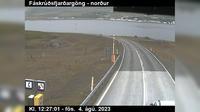 Ultima vista de la luz del día desde Vopnafjordur: Sandvíkurheiði
