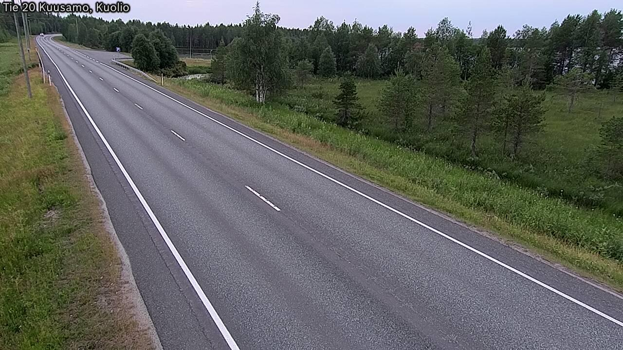 Webcam Kuusamo: Tie 20 − Kuolio − Ouluun