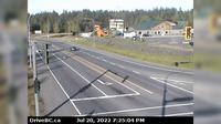 Hilliers > North: Hwy  at Alberni Hwy (Hwy A) junction, about  km west of Coombs, looking north - Recent