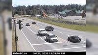 Hilliers > North: Hwy  at Alberni Hwy (Hwy A) junction, about  km west of Coombs, looking north - Dagtid