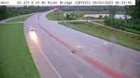 Council Bluffs: CB - US  East of Missouri River Bridge () - Current