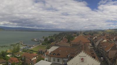 Tageslicht webcam ansicht von Murten: Lake Murten