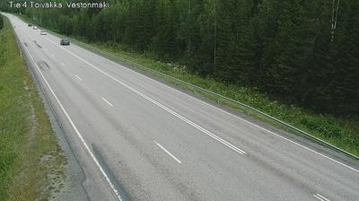 Current or last view from Toivakka: Tie 4 − Vestonmäki − Jyväskylään