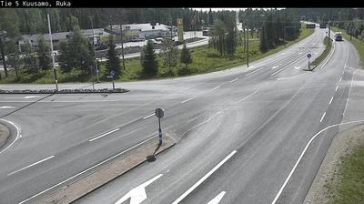 Vue webcam de jour à partir de Kuusamo: Tie 5 − Ruka − Kuusamoon