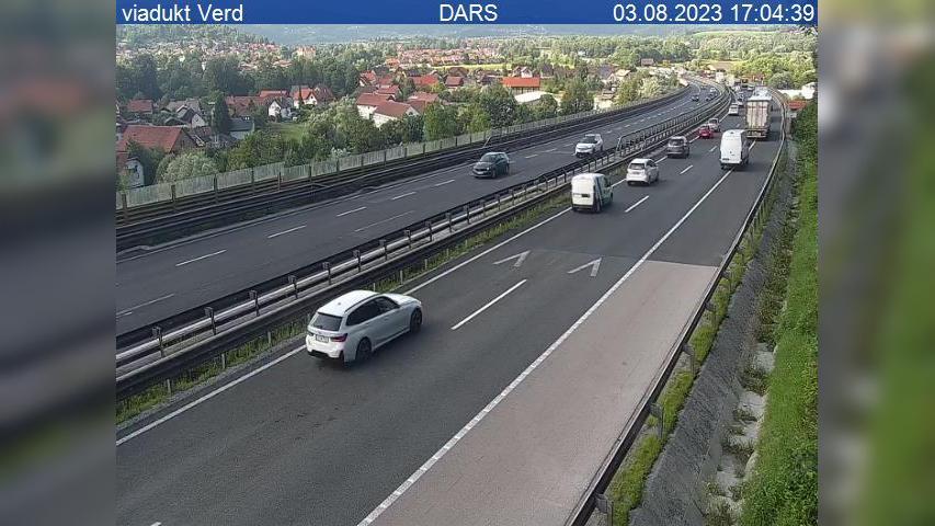 Webcam Verd: A1/E61/E70, Ljubljana − Koper, viadukt