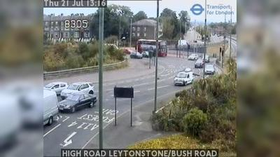 Daylight webcam view from East London: HIGH ROAD LEYTONSTONE/BUSH ROAD