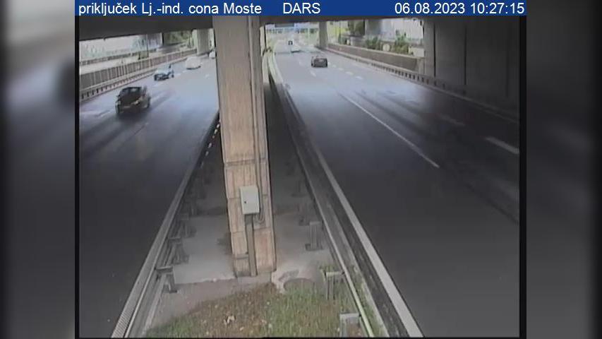 Webcam Fužine: A1/E57 − vzhodna obvoznica, razcep Zadobro