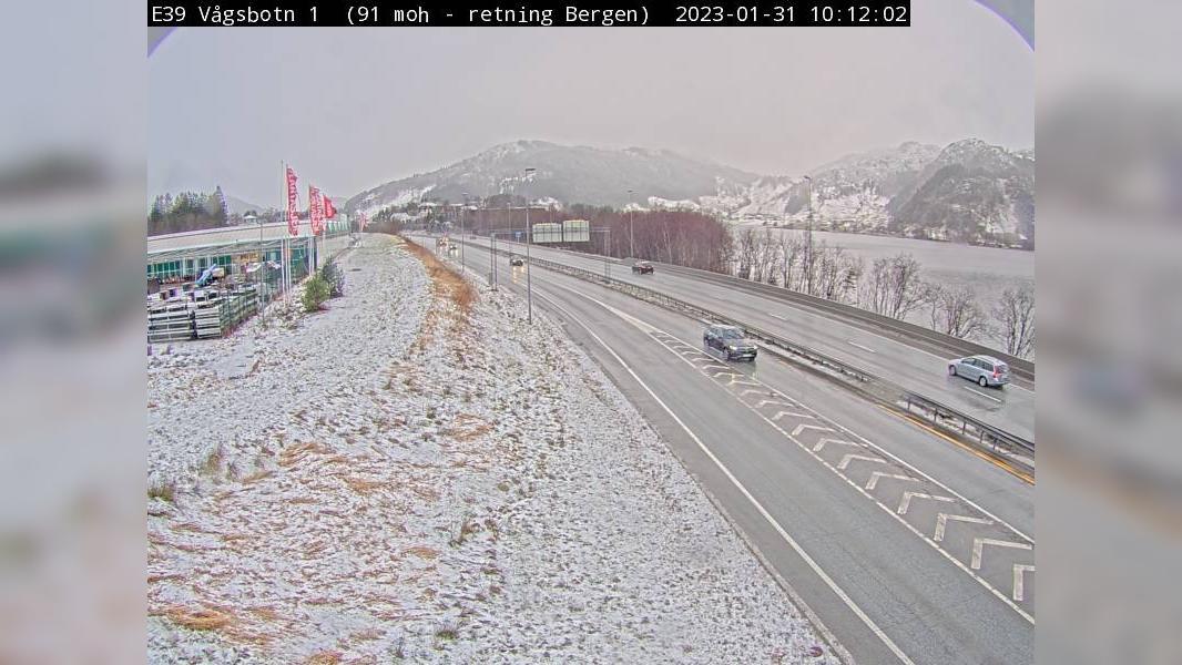 Webcam Vågsbotn: E39 − Retning mot Bergen