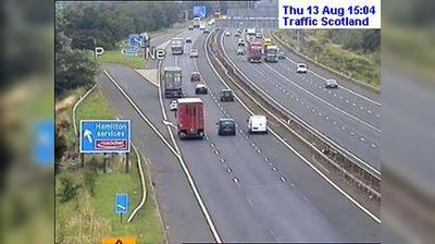 Glasgow: M live traffic camera Hamilton Services near Hamilton