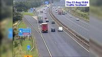East Kilbride: M live traffic camera Hamilton Services near Hamilton - Actuales