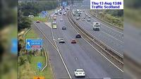 East Kilbride: M live traffic camera Hamilton Services near Hamilton - Day time