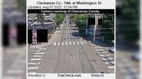 Oregon City: Clackamas Co - th at Washington St - El día