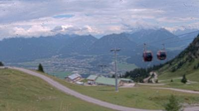 Daylight webcam view from Höfen: Hahnenkamm