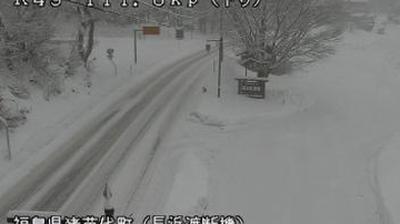 Webcam ふくしま: Fukushima − Route 49 − Nagahama
