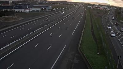 Villefranche-sur-Saône: Autoroute A en périphérie de Villefranche sur Saône Nord, vue orientée vers Lyon