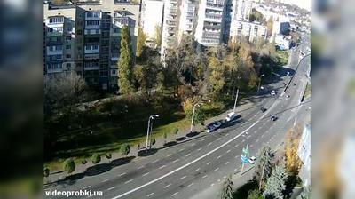 Киев: проспект Науки - улица Сапёрно-Слободская