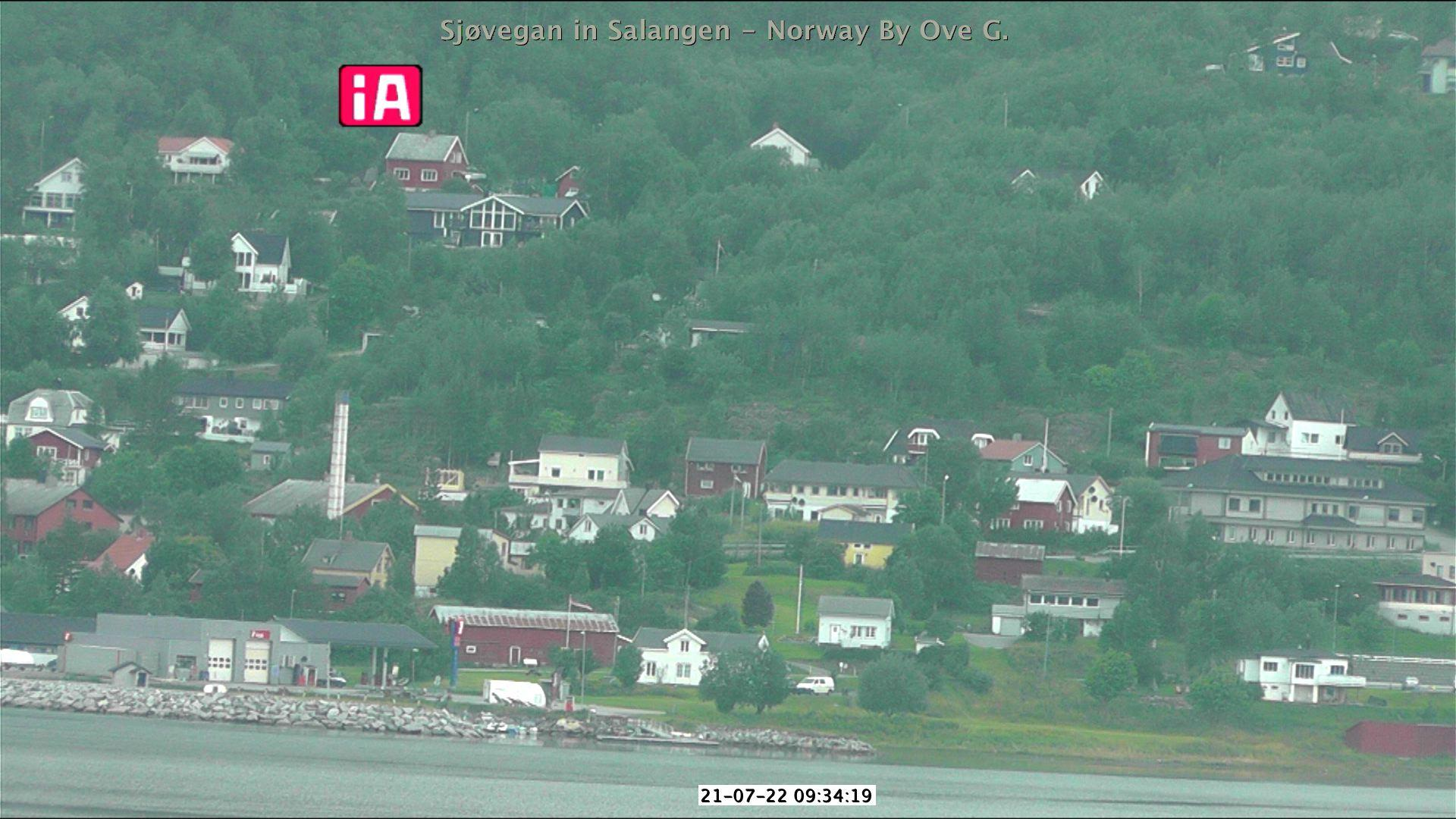Webcam Sjøvegan: Salangen − towards