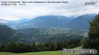 Lusen - Luson: Gruberhof - Blick nach Südwesten in die Sarntaler Alpen - Dagtid
