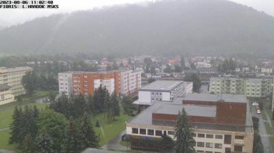 Daylight webcam view from Liptovský Hrádok: Kultúrny dom. Lipt. Hradok