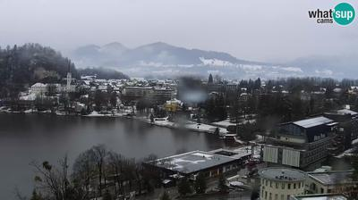 Daylight webcam view from Bled: Panorama of Lake