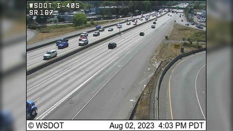 Webcam Renton: I-405/SR 167 Interchange
