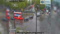 London: Euston Rd/Tottenham Court Rd - El día