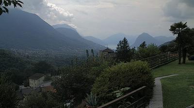 Daylight webcam view from Lopagno: Lugano San Salvatore