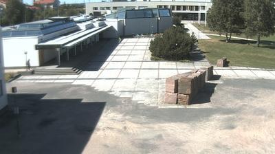 Daylight webcam view from Rovaniemi: Kirjasto (Library − Architect Alvar Aalto)
