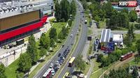 New Belgrade Urban Municipality: Belgrade Live - Bulevar Mihaila Pupina - Milentija Popovi?a - Overdag