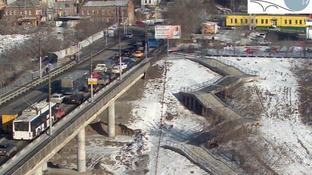 Webcam Затон: Саратов. Мост через Глебучев овраг