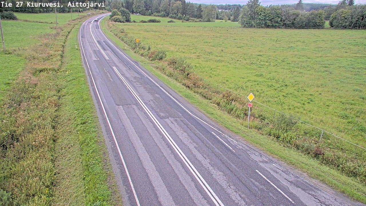 Webcam Kalliokylä: Tie 27 Kiuruvesi, Aittojärvi − Kalajoe