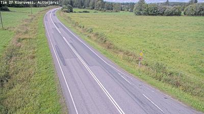 Vue webcam de jour à partir de Kalliokylä: Tie 27 Kiuruvesi, Aittojärvi − Kalajoelle