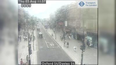 Vista de cámara web de luz diurna desde West End of London: Oxford St/Davies St